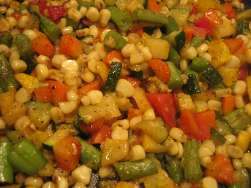 Mixed Summer Vegetables for Minestrone