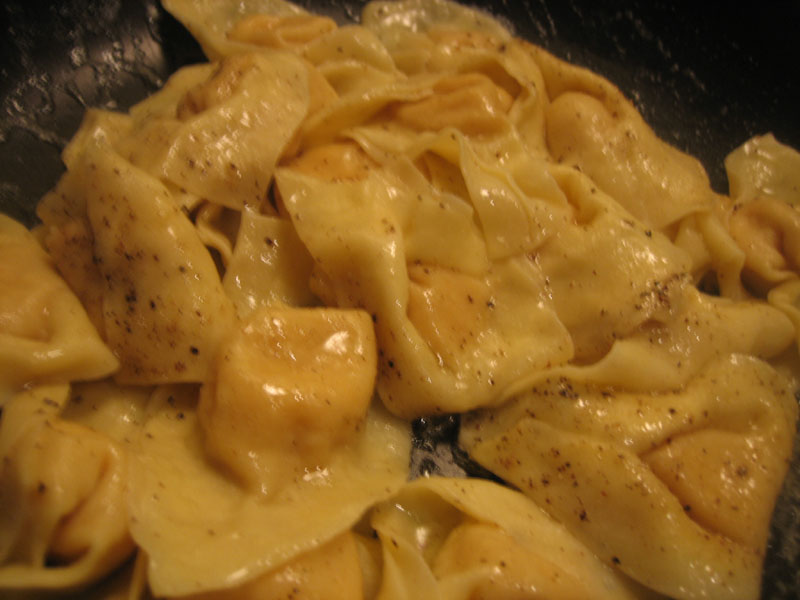 fresh golden beet & chevre tortelloni pasta