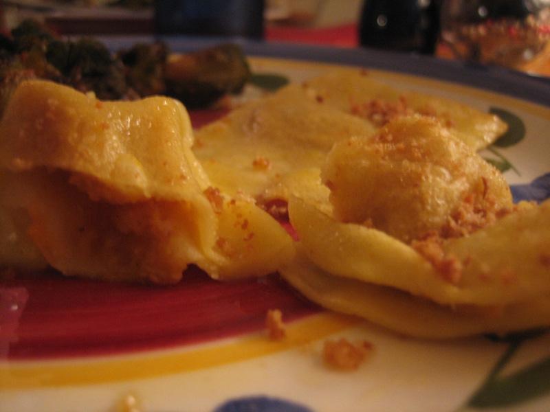 Butternut squash ravioli (Ravioli Zucca)