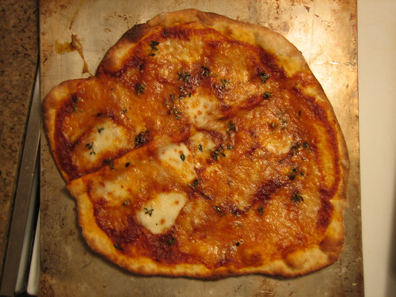 Pizza with Sundried Tomato reduction