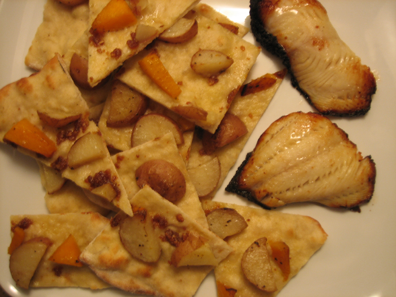 Winter Flatbread with potato & butternut squash
