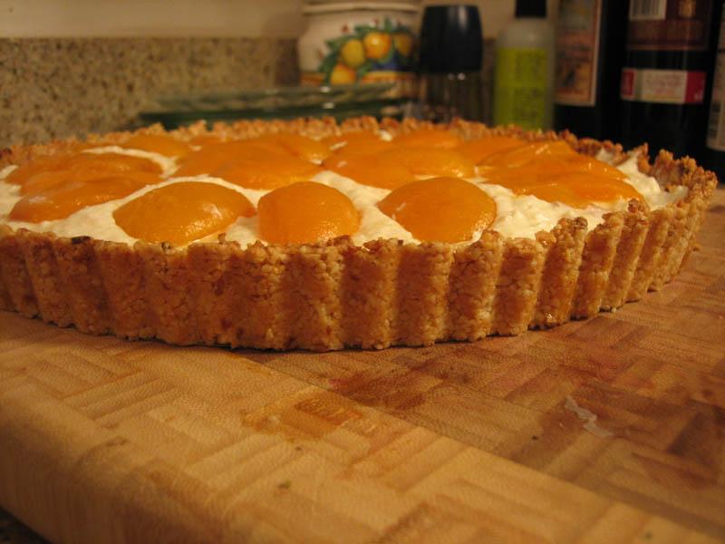 Apricot Nut Ricotta Tart