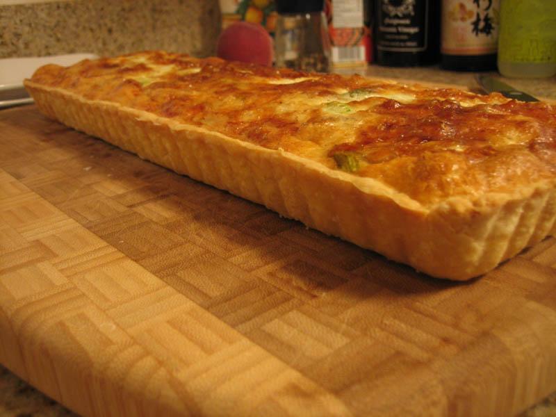 Asparagus Onion Truffle Tart