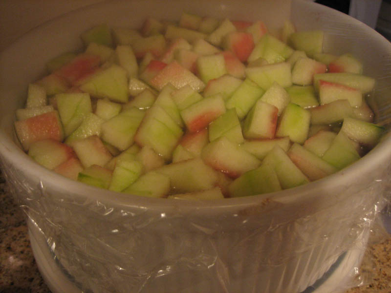 Watermelon rind in brine
