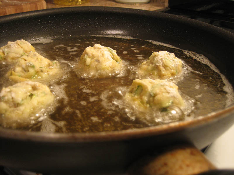 & Zucchini Blossoms; Kolokythokeftedes (Zucchini and Feta Balls ...