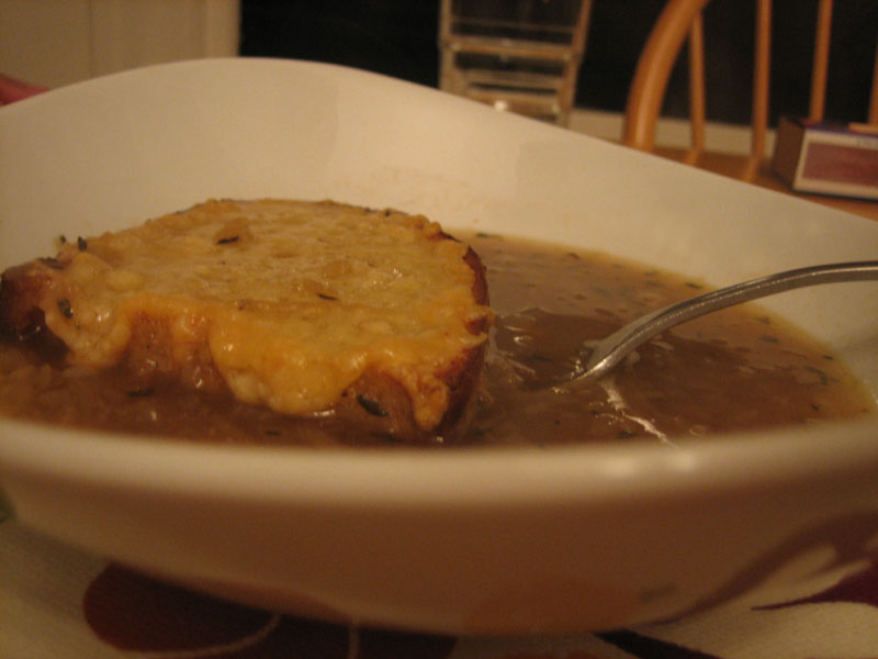 home made french onion soup