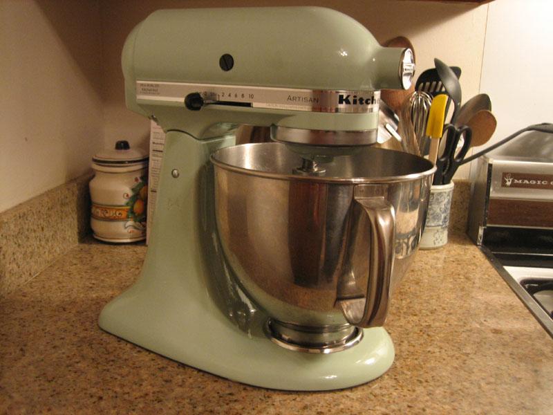 kitchenaid pistachio stand mixer