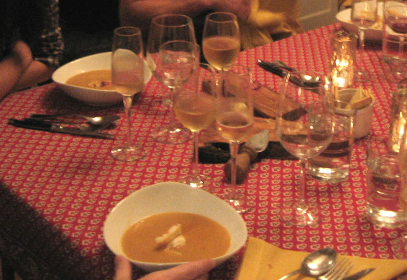 Home made crab bisque with dungeness crab