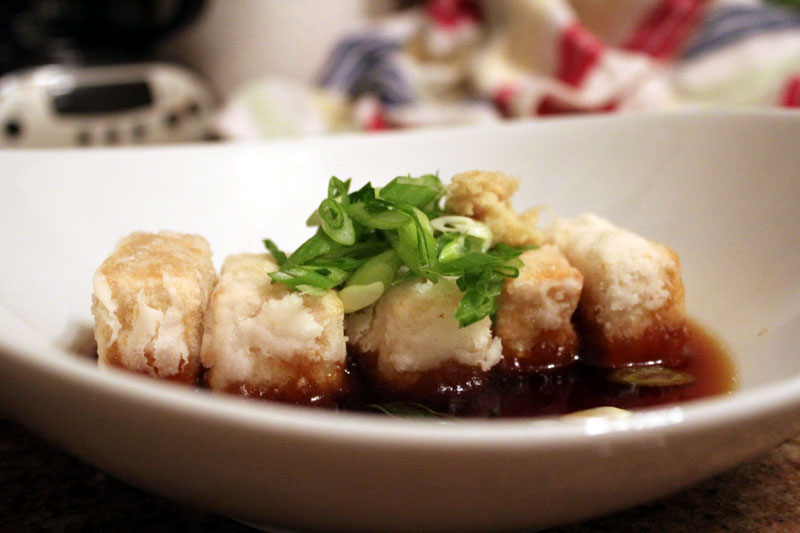 recipe photo: home made age dashi tofu