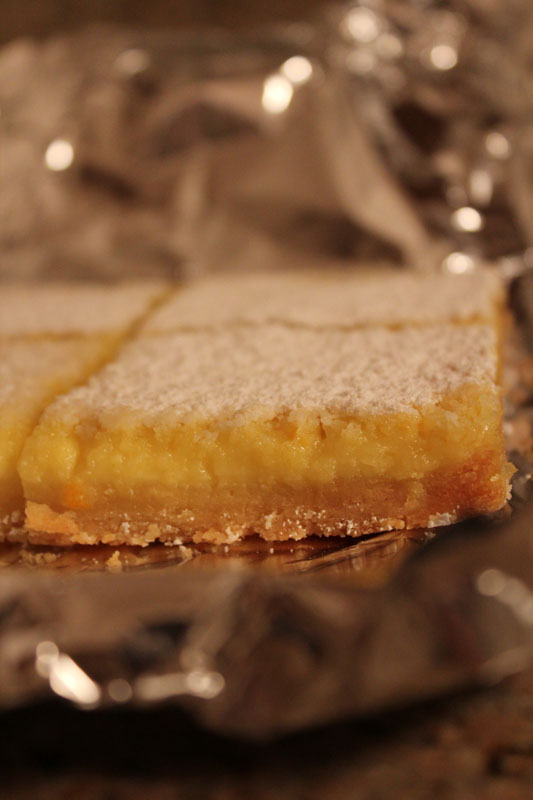lemon bars with whole meyer lemons