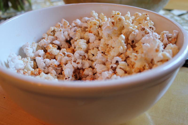 fire roasted pepper popcorn