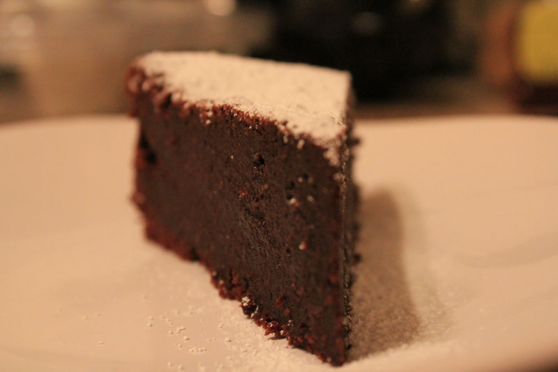 Flourless Chocolate Almond Cake Recipe