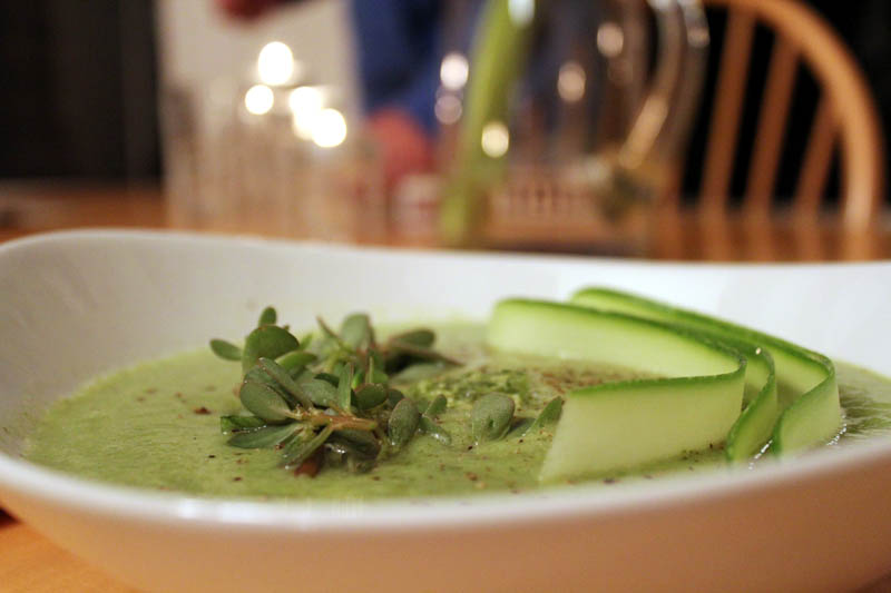 Zucchini and Purslane Soup