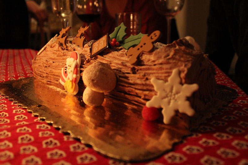 buche de noel from cafe madeline in san francisco