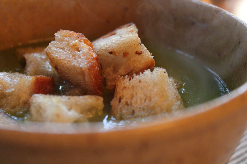 Green Garlic Soup