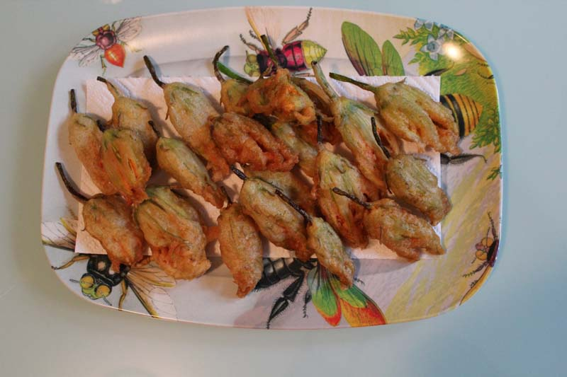 Bubbly Fried Squash Blossoms