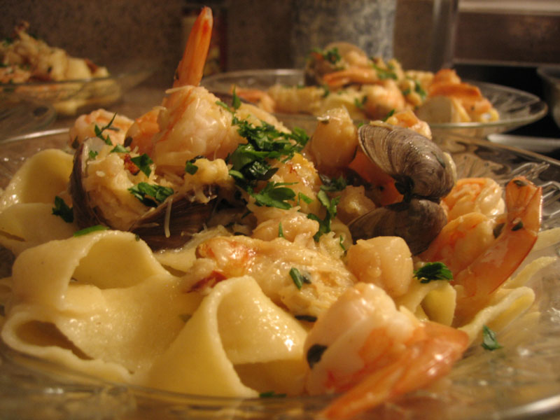 Tutto Mare - Mixed Seafood Pasta with shrimp, clams, scallops & crab